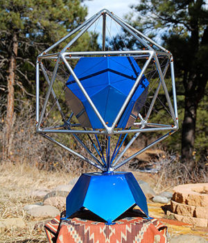 Nested dodecahedron and icosahedron