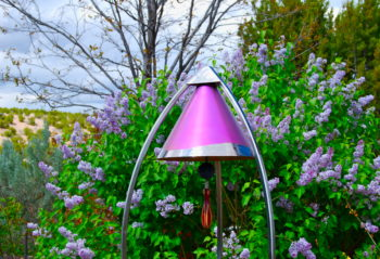 Garden  Bell with Lilacs