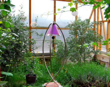 Harmony Bell inside Greenhouse