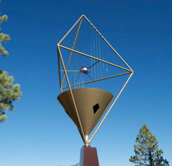 Trinity wind harp with crystal sphere (Double Tetrahedron)
