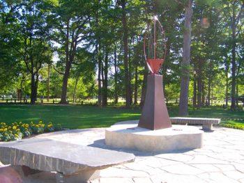 Reflections Garden Wind Harp, Keene University, 2005