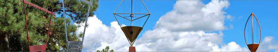 Harmony Wind Harps, Sound Sculptures, Garden Bells for sale
