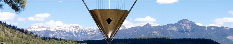 Harmony Wind Harps, Sound Sculptures, Garden Bells for sale