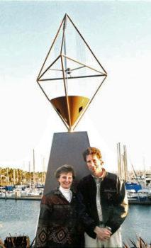 Karen McElliott with Artist